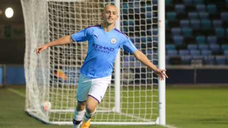 ON TARGET: Lewis Fiorini was on target for City's Under-18s