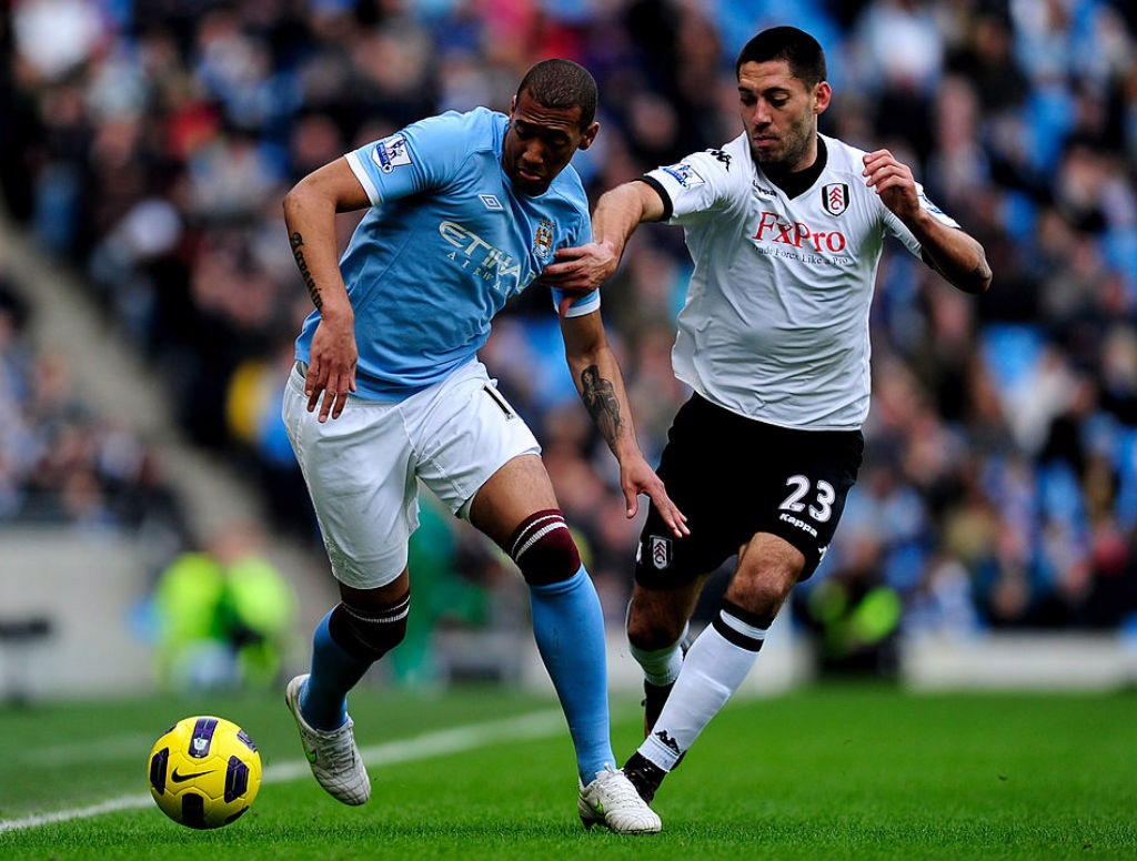 ON THE BALL: Jerome Boateng in action for City against Fulham