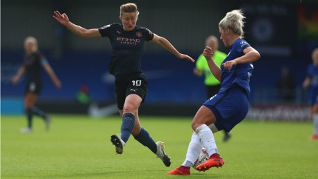 PRESS TO PLAY: Ellen White closes down Millie Bright