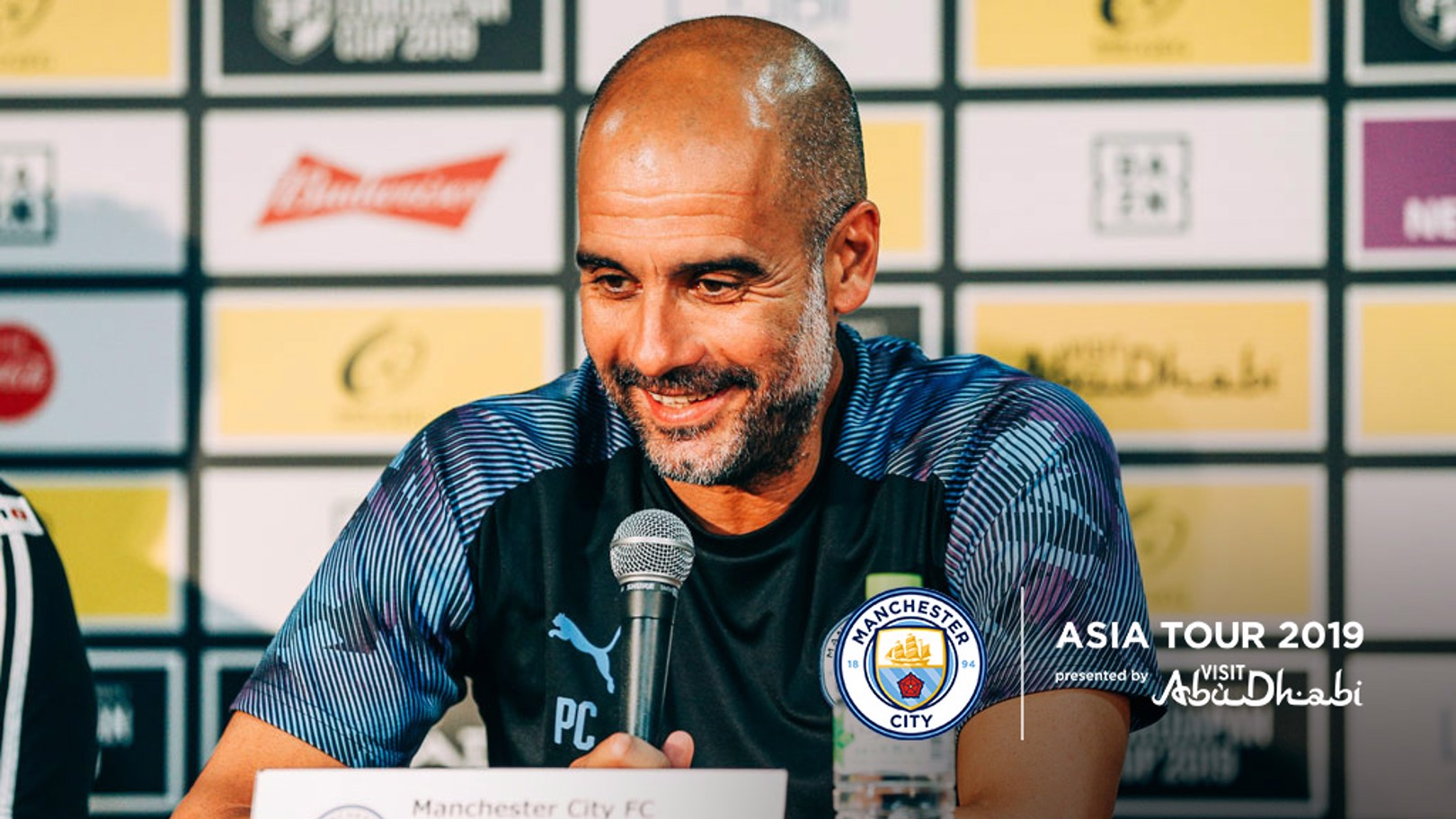 PRE-MATCH: Pep Guardiola addresses the media ahead of the Yokohama F. Marinos friendly.