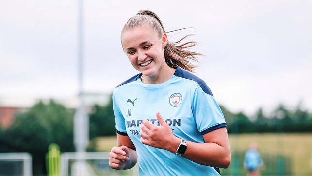 HAPPY DAYS : Plenty to smile about for Georgia Stanway.