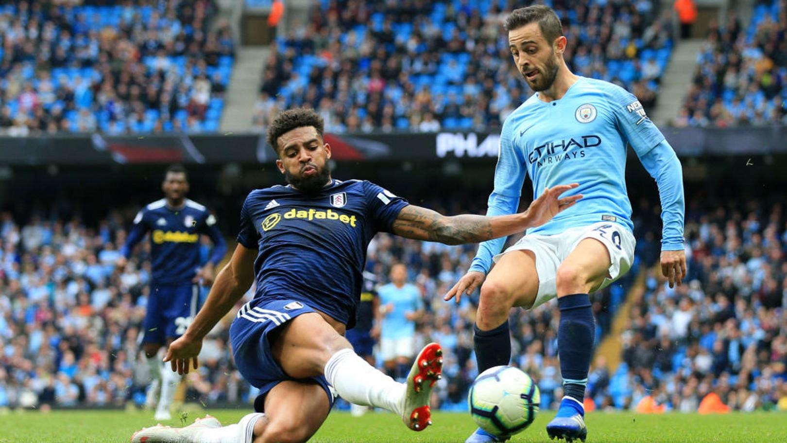 EYE CATCHER: Bernardo Silva was at his bewitching best against Fulham