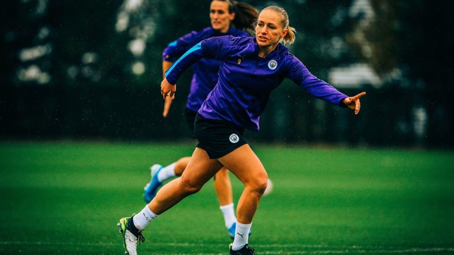 P SHOOTER : City's 2019/20 top scorer readies herself for a chance