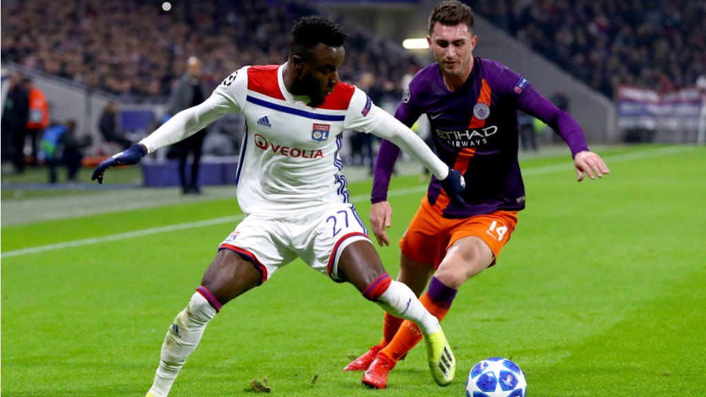 WATCHING BRIEF : Aymeric Laporte keeps tabs on the Lyon attack