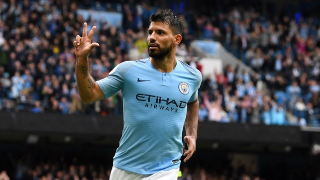 SIX AND THE CITY : Sergio Aguero was the star of the show, bagging a hat-trick in our first home game of 2018/19 - a 6-1 win over Huddersfield