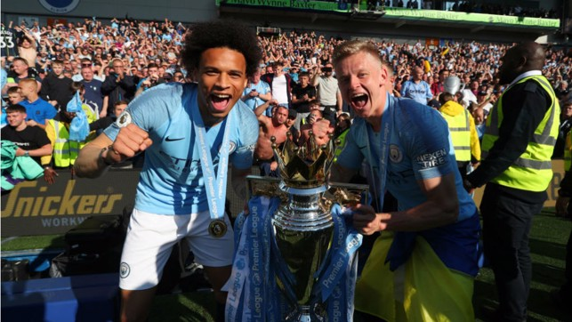 SEASIDE SPECIAL: Leroy is a Premier League winner again after our 4-1 success at Brighton in May 2019