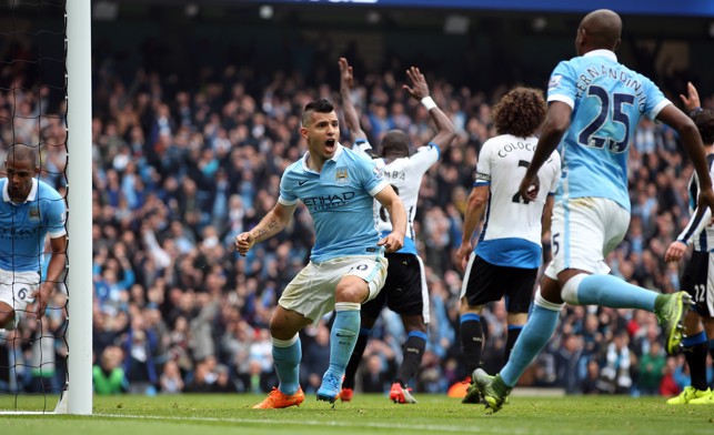 GOAL GLUT : Aguero netted five goals against Newcastle in 2015