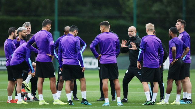 PROMPTS FROM PEP : The boss gives out instructions to the team
