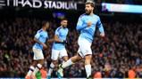 DEADLOCK BROKER: Sergio wheels away in celebration