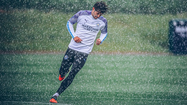 All bow. The king is back... David Silva gets used to the summer Manchester weather...