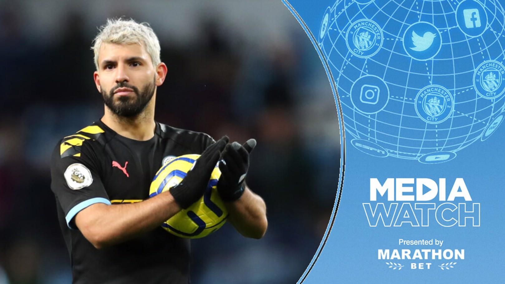 KUN TARGET: Sergio Aguero has his sights set on breaking more Premier League records