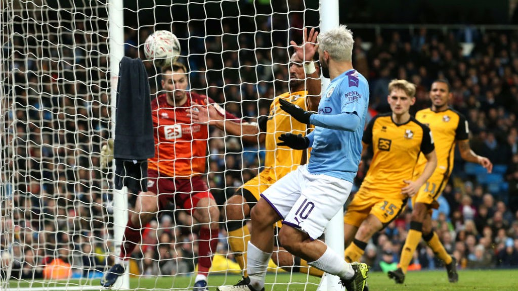 NET GAIN : Sergio Aguero strikes to restore our advantage