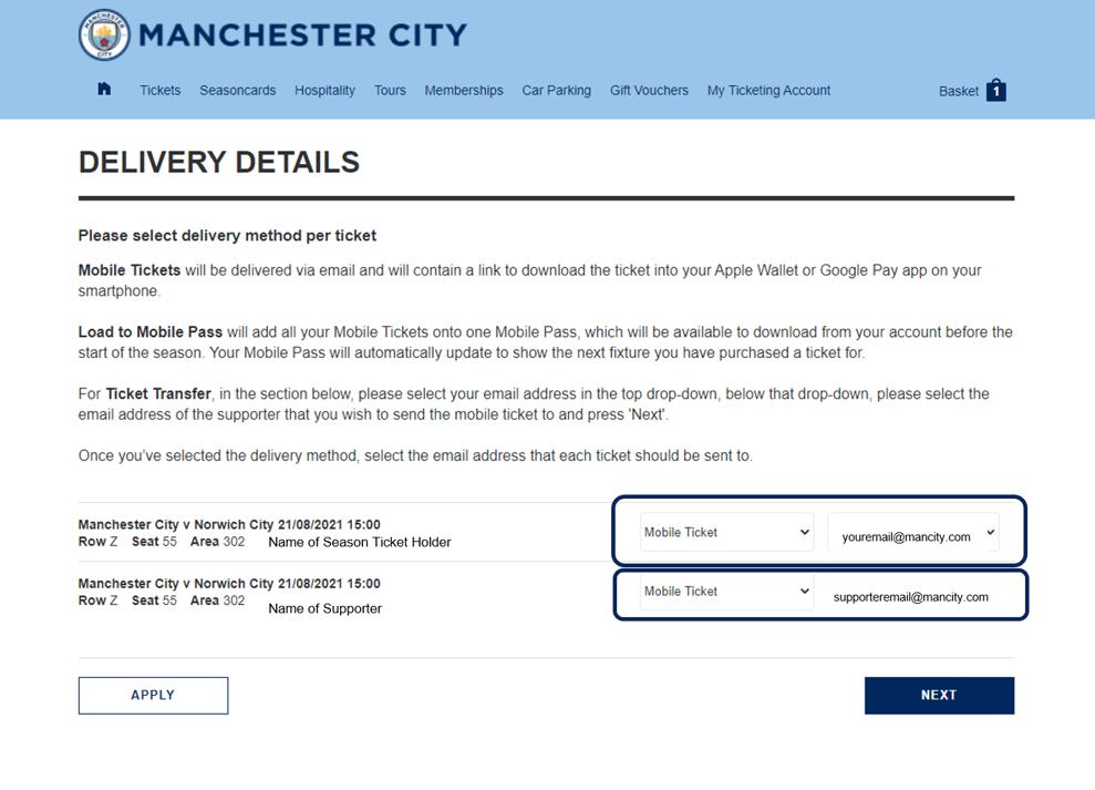 Ticket Transfer step 5
