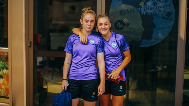 YOUNG STARS : City and England teammates - and close friends - Keira Walsh and Georgia Stanway