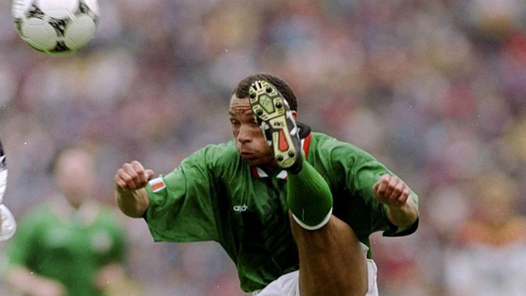 ACTION MAN : Terry Phelan pictured in action for the Republic of Ireland in 1994