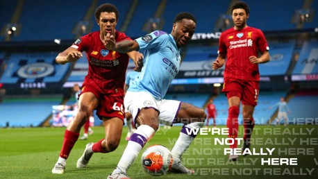 ACTION STATIONS: Raheem Sterling in the thick of the action against Liverpool