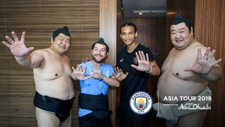 SUMO TIME: Leroy decided to prank our kitman out in Japan!
