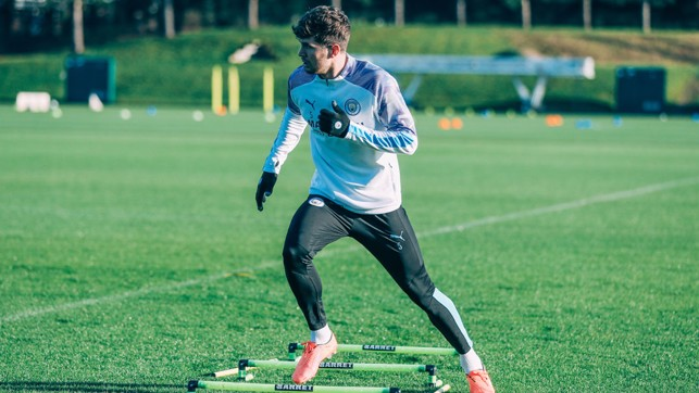 SETTING THE STONE : John Stones is put through his paces