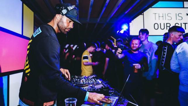 DJ : Joleon Lescott on the ones and twos.
