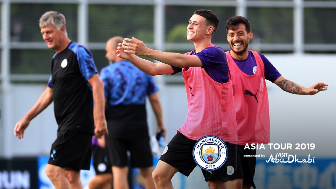 PHIL GOOD: Phil Foden joined up with the squad in Hong Kong