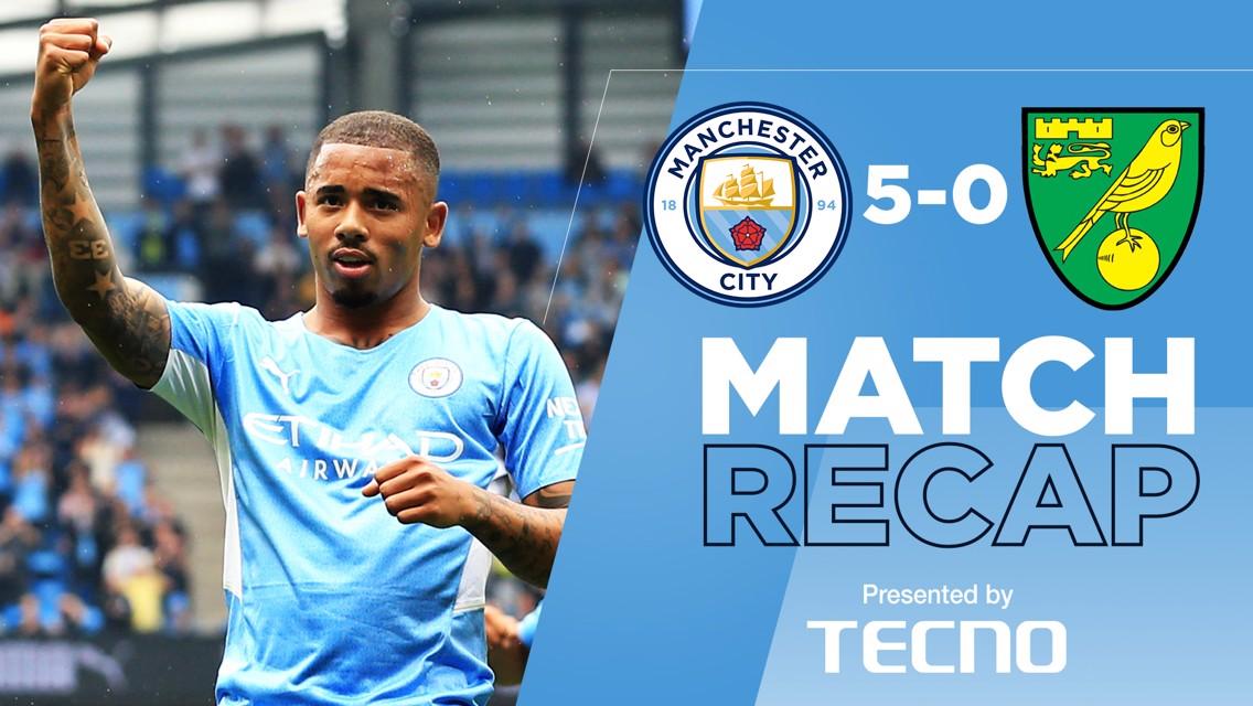 Match Recap: City 5-0 Norwich