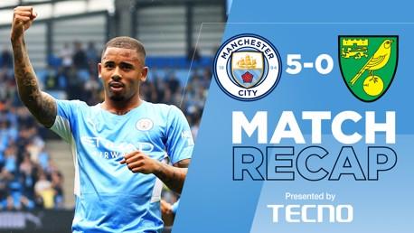 Rekap Pertandingan: City 5-0 Norwich