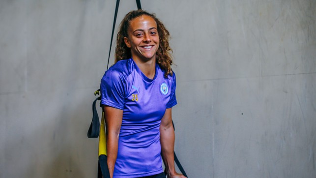 MERRY MATILDE : New recruit Matilde Fidalgo is settling in well on and off the pitch