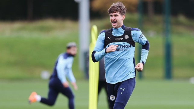 : John Stones building his fitness up