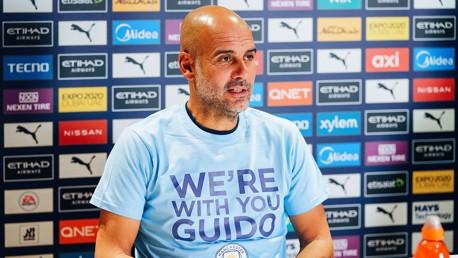 جوارديولا يدعم مشجع السيتي الذي تعرض للهجوم في بلجيكا