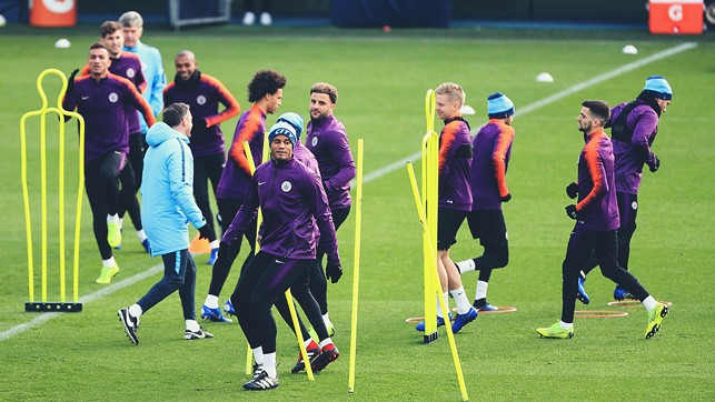 SKIPPER : Vincent Kompany leads the way