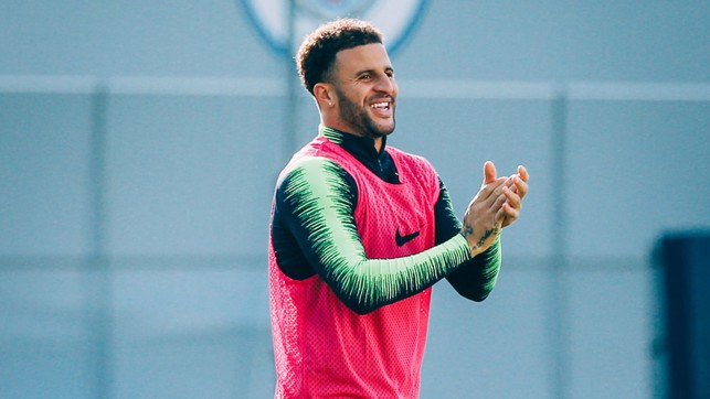 GIVE HIM A ROUND OF APPLAUSE! Kyle Walker