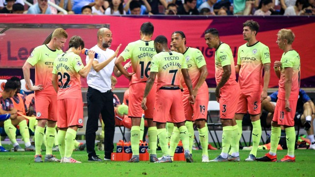 PEP TALK : The manager gives his say