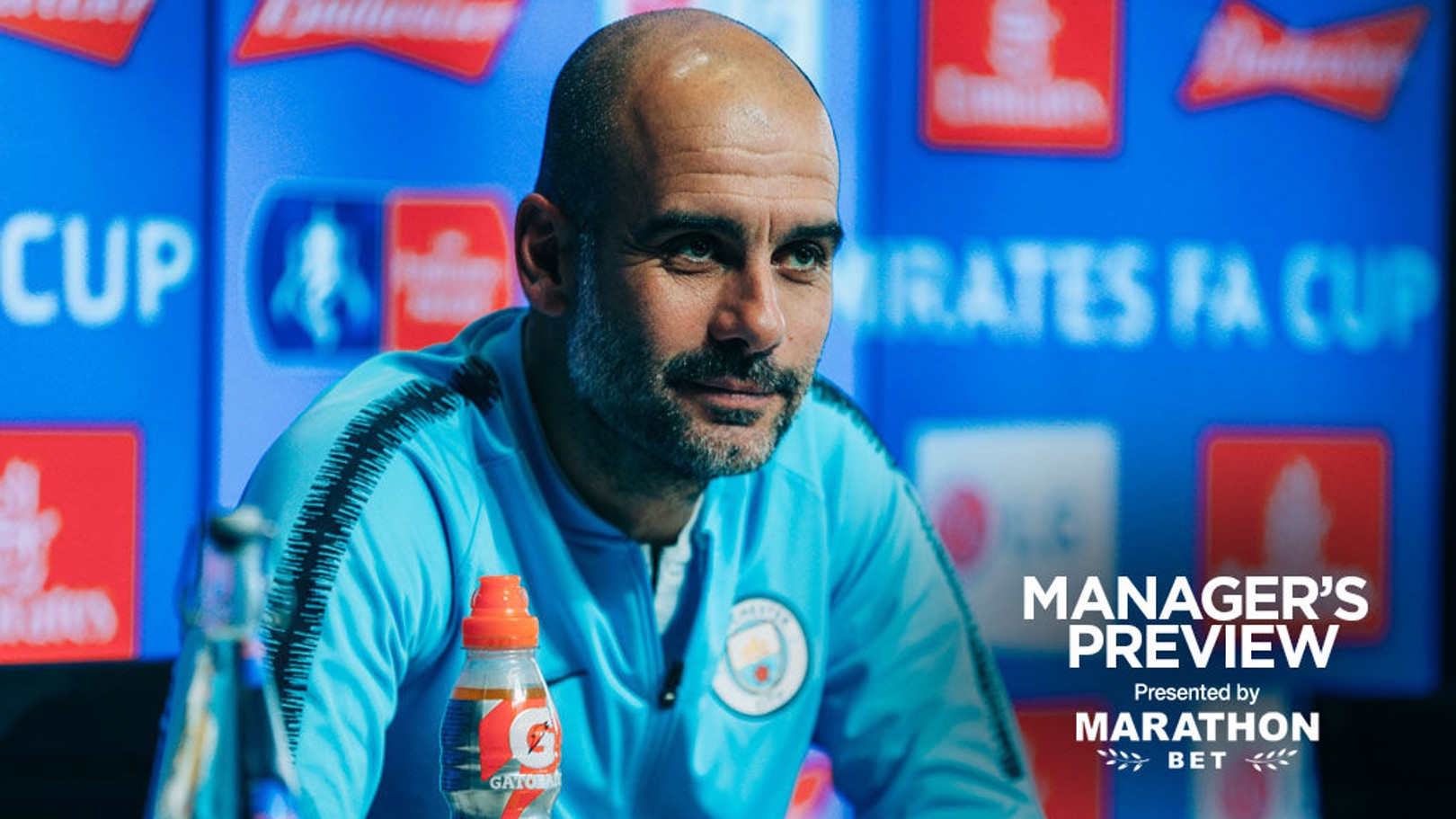 PEP TALK: The boss is ready for this weekend's FA Cup quarter-final at Swansea