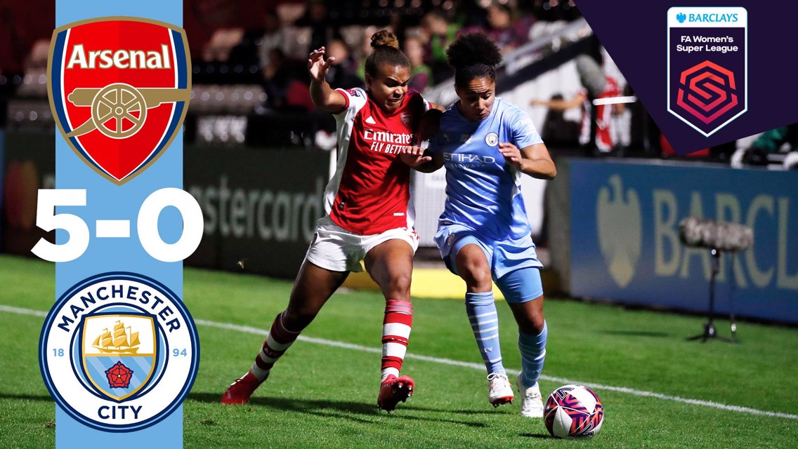FA WSL highlights: Arsenal 5-0 City