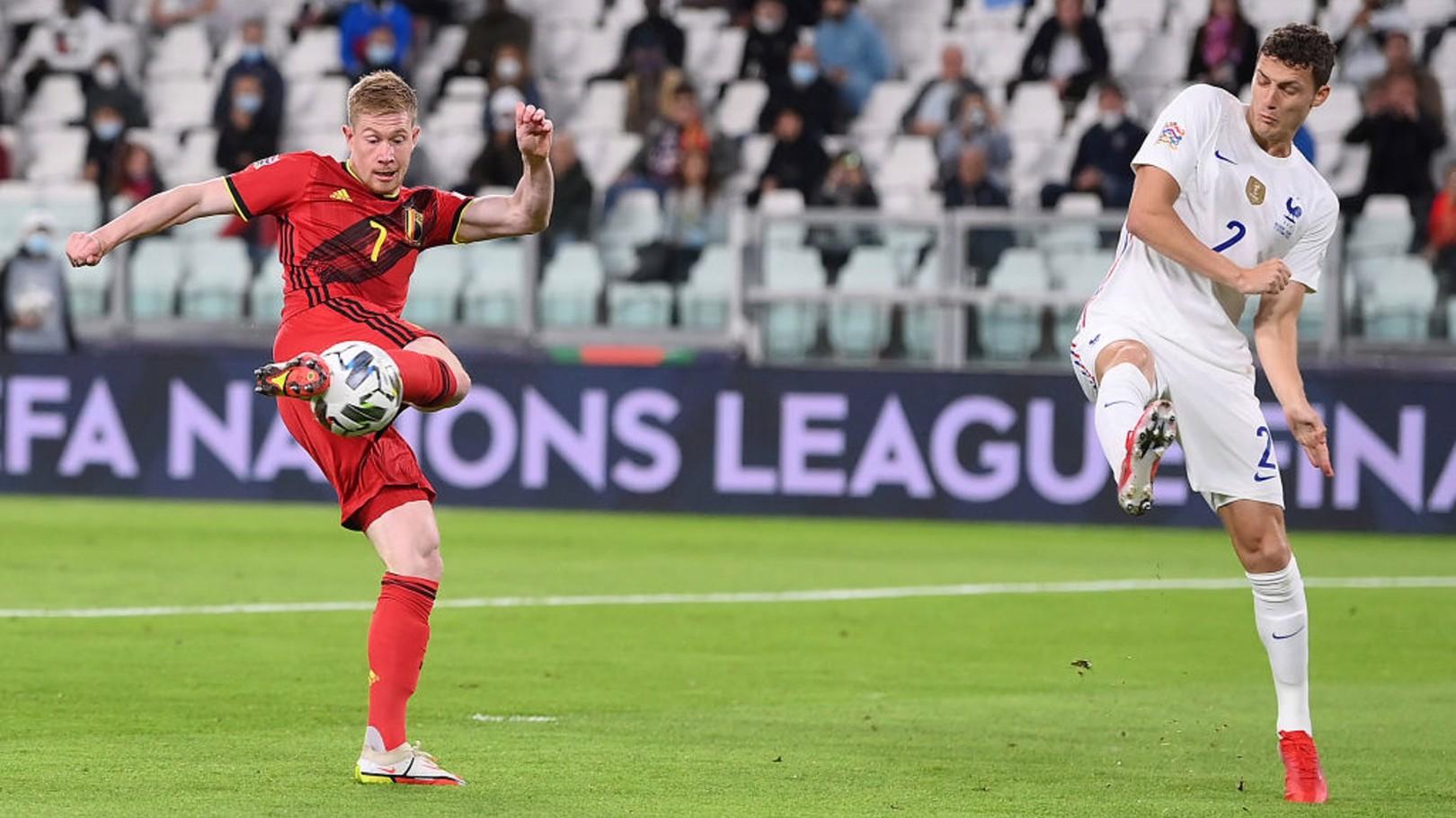 De Bruyne dá duas assistências, mas França vence na Liga das Nações