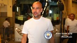 READY: Pep Guardiola arrives for our friendly with Kitchee.