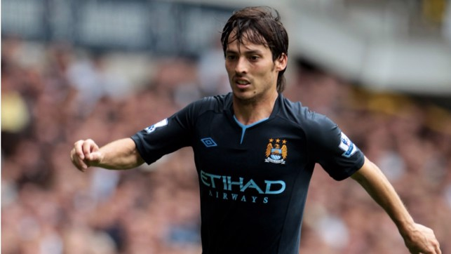 DEBUT : Silva made his first appearance in a City jersey against Tottenham on 14 August 2010, the game ended 0-0.
