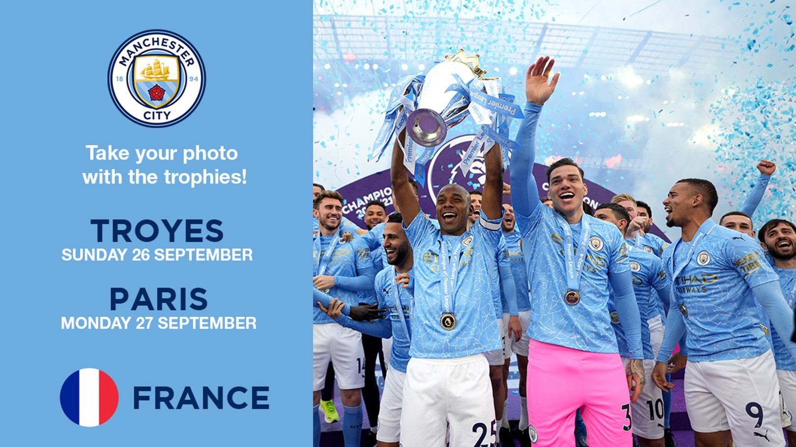 Premier League and Carabao Cup trophies to visit France!