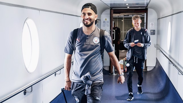 Riyad and Oleks head to the plane