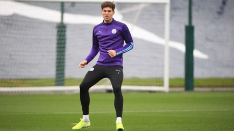 FIT AGAIN: John Stones is back in training.