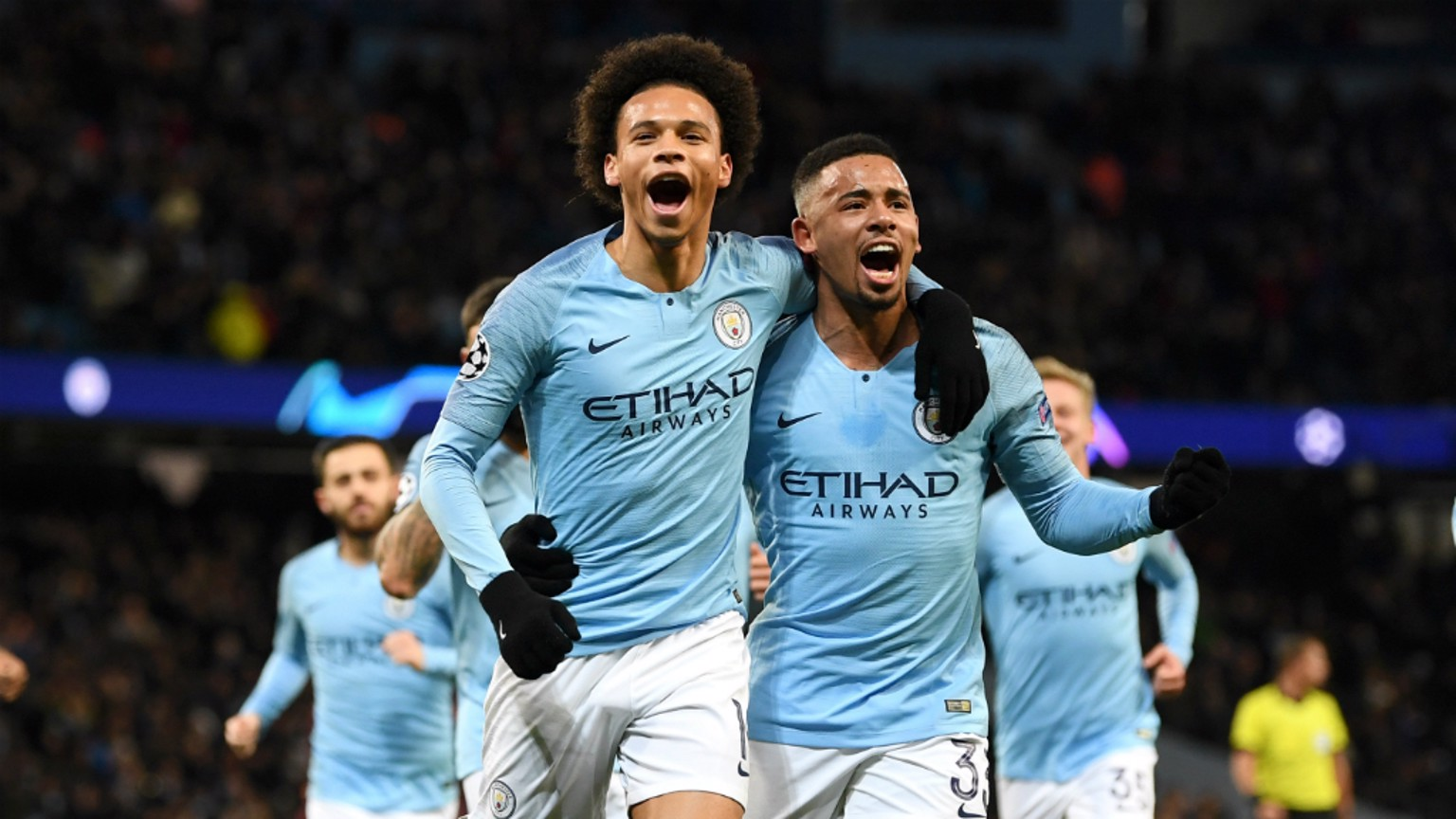 SUPER SANE: Leroy Sane and Gabriel Jesus wheel away