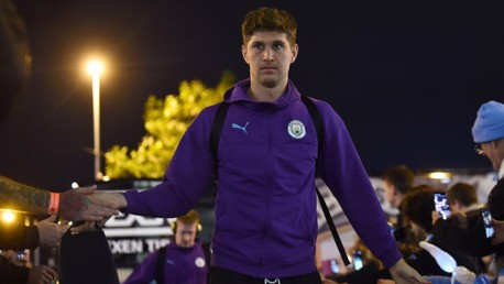READY: Game face on for John Stones.