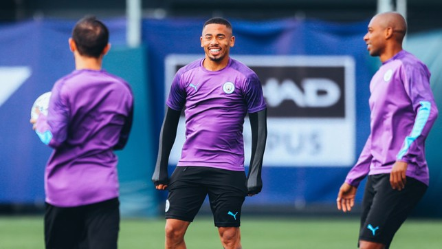CENTRE OF ATTENTION : Gabriel Jesus looks primed and ready for action!