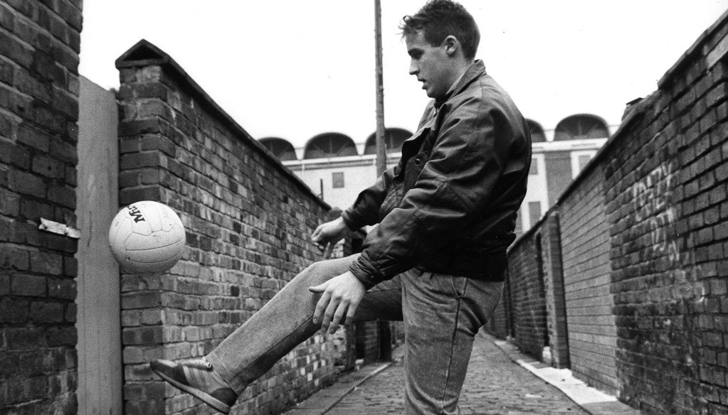 Back street boy : Moulden with Maine Road in the background