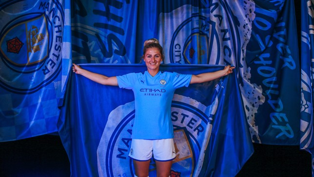 STRIKE A POSE : Summer signing Laura Coombs is already loving life at City