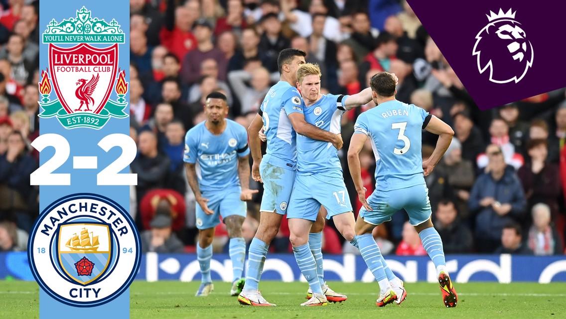 Le résumé : Liverpool 2-2 City