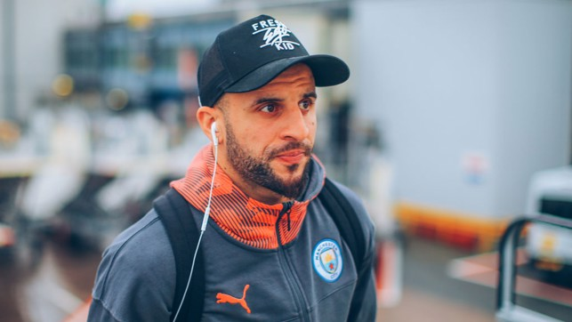 SPECIAL K : Kyle Walker gets his game face on!