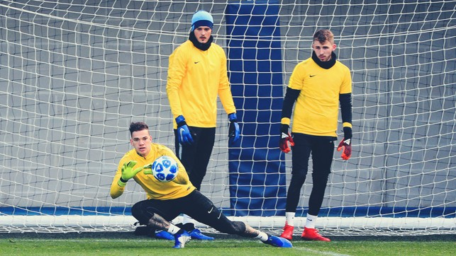 GOALKEEPERS' UNION : Ederson stoops to save