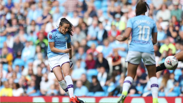 MAGIC MOMENT : Caroline Weir fires home in spectacular fashion early in the second half
