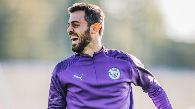 SILVA LININGS : Bernardo's enjoying himself in the sun!